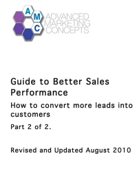 guide to better sales performance